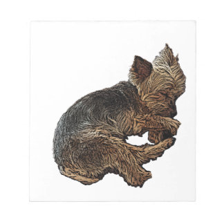 Napping Yorkie Notepad