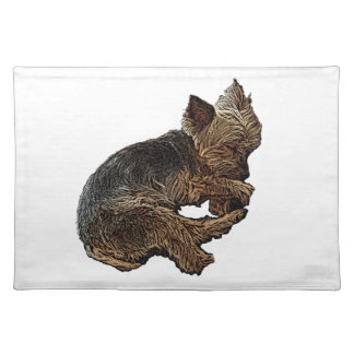 Napping Yorkie Placemat