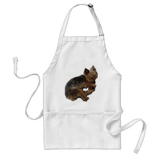 Napping Yorkie Standard Apron