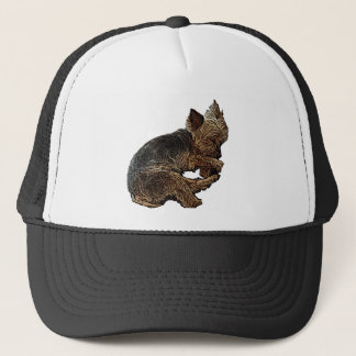 Napping Yorkie Trucker Hat