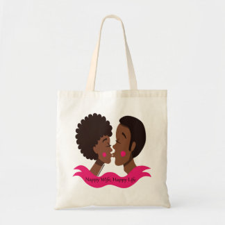 Nappy Wife- Happy Life Tote Bag
