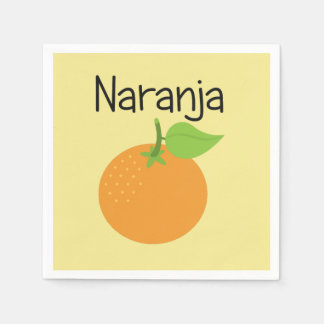 Naranja (Orange) Paper Napkin
