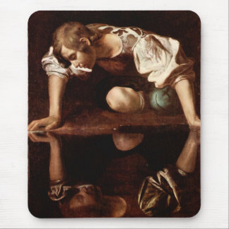 Narcissus by Caravaggio Mouse Pad