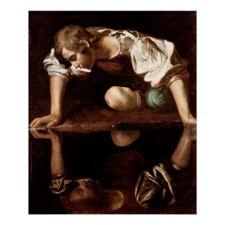 Narcissus, Caravaggio Poster
