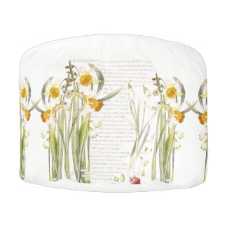 Narcissus Daffodils Flowers Floral Pouf Pillow