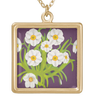 Narcissus Flower Bouquet Necklace