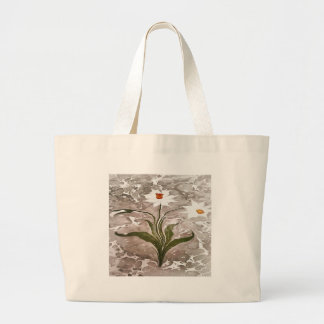 Narcissus On Marble Large Tote Bag