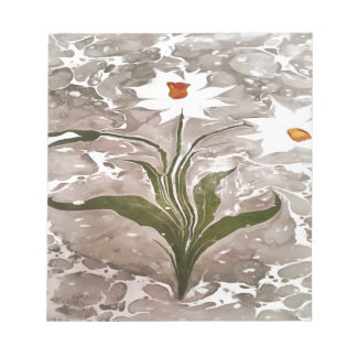 Narcissus On Marble Notepad