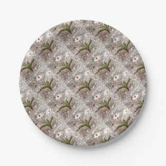 Narcissus On Marble Paper Plate