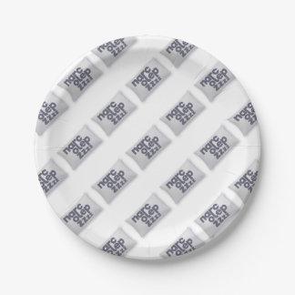 Narcolepsy zzz paper plate