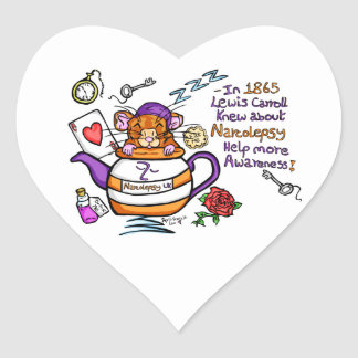 Narcoleptic Dormouse. Heart Stickers