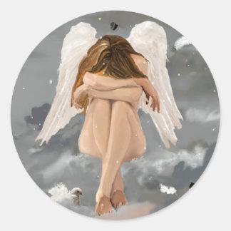 Narnia Angel Resting! Classic Round Sticker