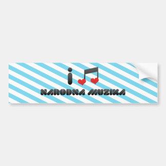 Narodna Muzika Car Bumper Sticker