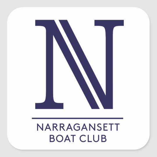 Narragansett Boat Club Glossy Square Sticker