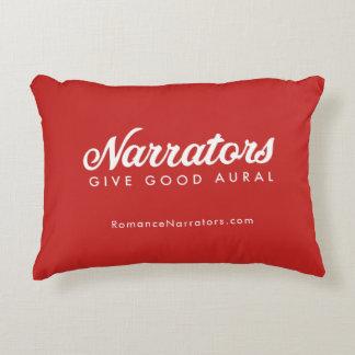 Narrators Give Good Aural pillow +web