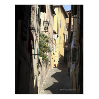 Narrow Alley, Siena, Italy Postcard