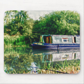 Narrow boat on the River Nene mousemat Mouse Pad