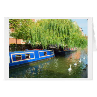 Narrow boats in Lincoln Card