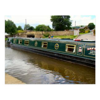 Narrow boats waiting by the Aquaduct Postcard