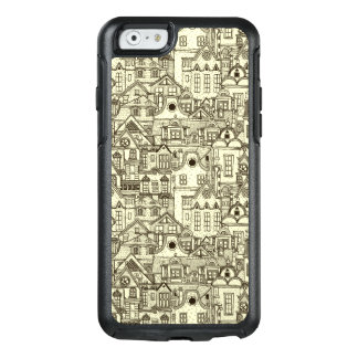Narrow city houses sketchy illustration pattern OtterBox iPhone 6/6s case