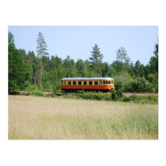 Narrow gauge train at Änghult Postcard