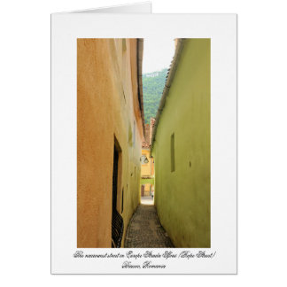 Narrow street card