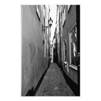 Narrow street in Stockholm Photo Print