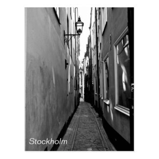 Narrow street in Stockholm Postcard