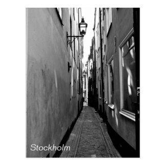 Narrow street in Stockholm Postcard