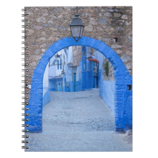 Narrow Street Of Chefchaouen Spiral Notebook