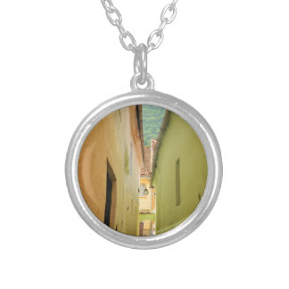 Narrow street silver plated necklace