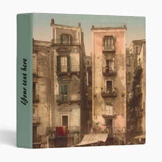 Narrow Streets in Naples, Campania, Italy Vinyl Binder