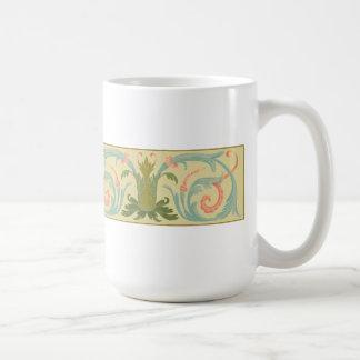 Narrow Strip Basic White Mug