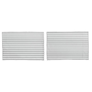 Narrow Stripe Charcoal Grey White Mattress Ticking Pillowcase
