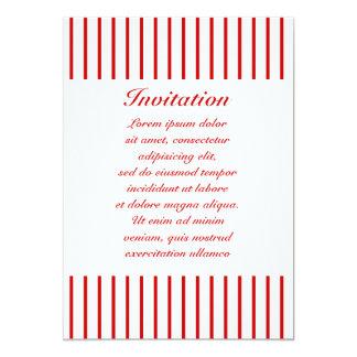 "Narrow Stripe Red + Custom COlor 5"" X 7"" Invitation Card"