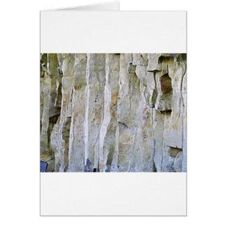 Narrow white rock column card