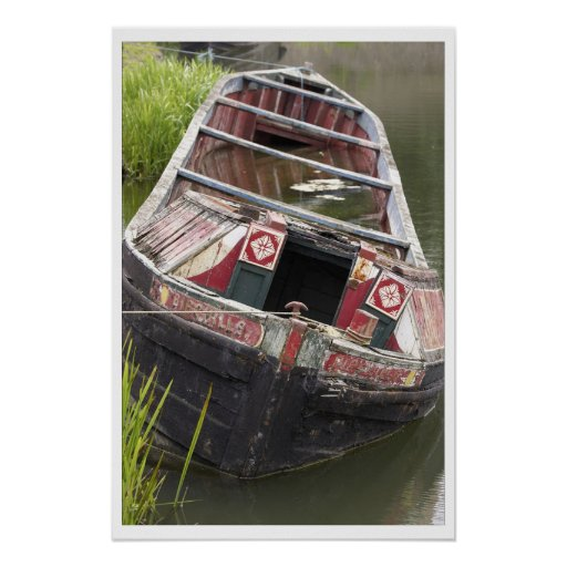 Narrowboat Birchills in a sad state Poster