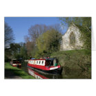 Narrowboat & Church On Oxford Canal Greeting Card