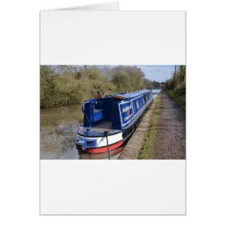 Narrowboat Indefatigable Card