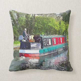 NARROWBOATS THROW PILLOW