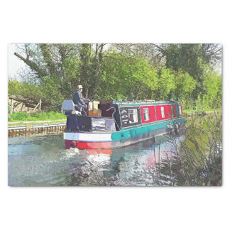 NARROWBOATS TISSUE PAPER
