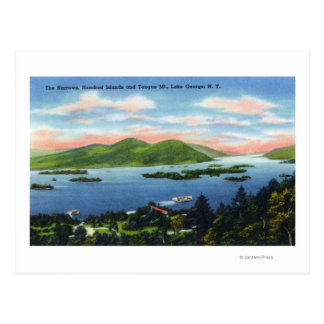 Narrows, Hundred Islands, Tongue Mountain View Postcard