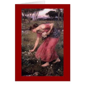 Narsissus Picking Flowers Card