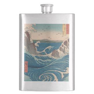 naruto whirlpool by Japanese artist Hiroshige Hip Flask