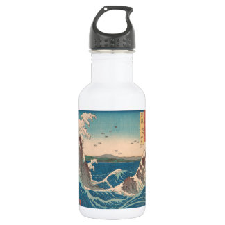 Naruto Whirlpool Japanese  Hiroshige art 532 Ml Water Bottle