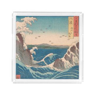 Naruto Whirlpool Japanese  Hiroshige art Acrylic Tray
