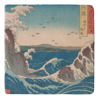 Naruto Whirlpool Japanese  Hiroshige art Trivet