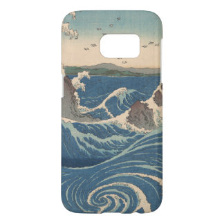 naruto whirlpool Japanese woodprint art Samsung Galaxy S7 Case