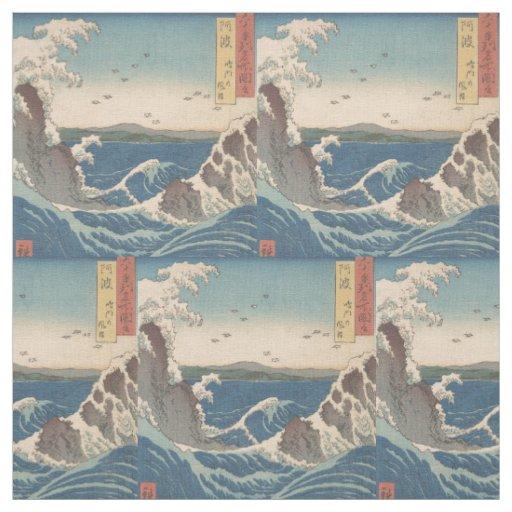 Naruto Whirlpool Waves Hiroshige Fabric