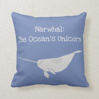 Narwahl: The Ocean's Unicorn Throw Pillow